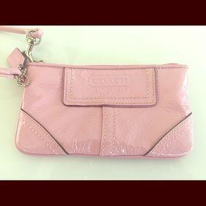 Authentic COACH Pink Wristlet